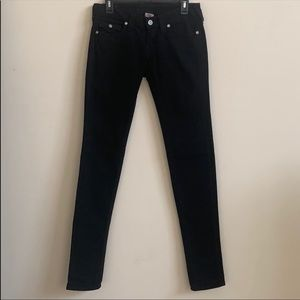 True Religion Jeans - True Religion Black Julie Crystal 5 Pocket Jeans